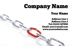 chain link business cards