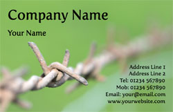 barbed wire business cards