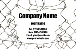 wire fencing business cards