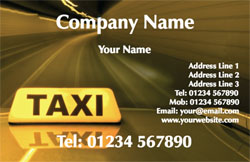 Taxi Business Cards With Free Delivery Putty Print
