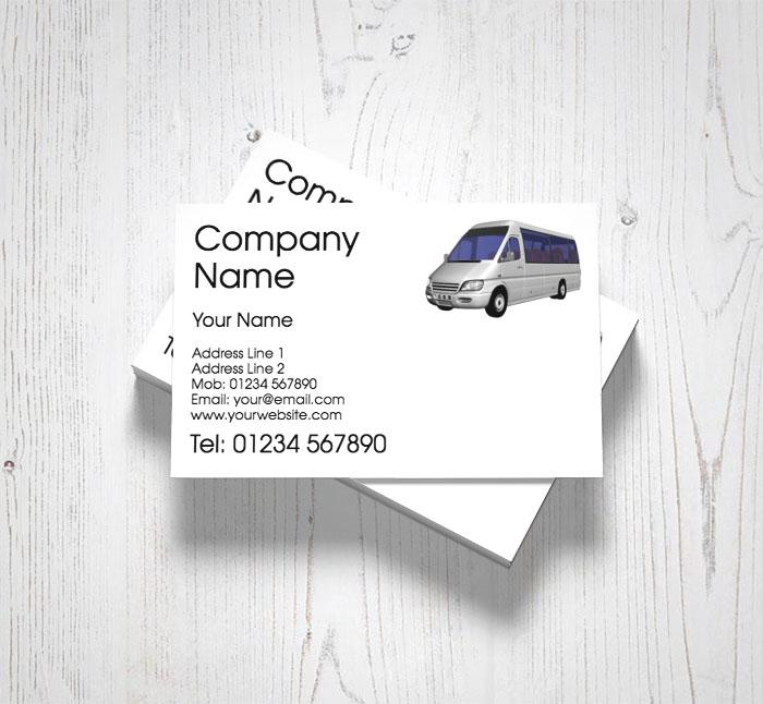 Minibus hire business cards customise online plus free delivery minibus hire business cards colourmoves
