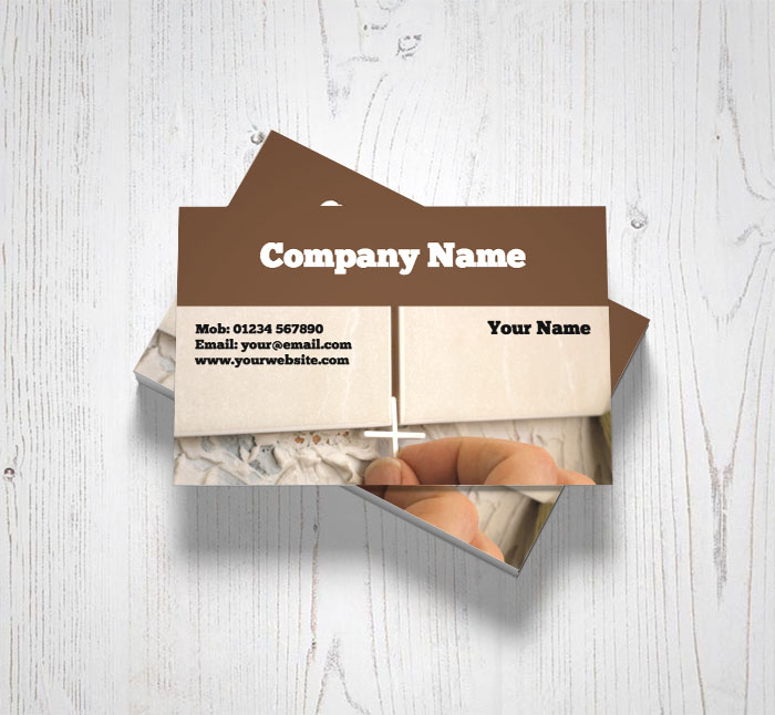 Wall tiling business cards customise online plus free delivery wall tiling business cards reheart Image collections