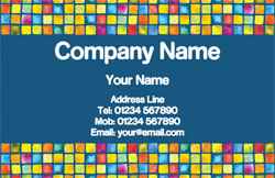 mosaic tiles business cards