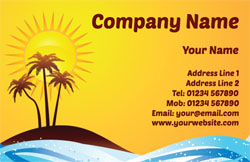 tropical island business cards