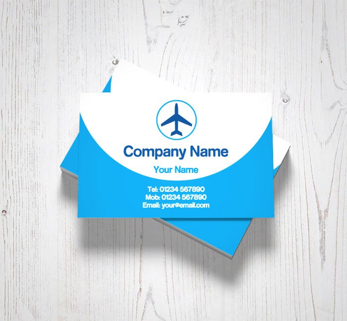 plane travel business cards