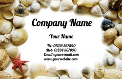 sea shells business cards