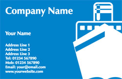 cruise liner business cards