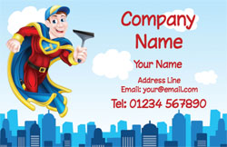 superhero window cleaner cards