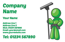 green window cleaner business cards