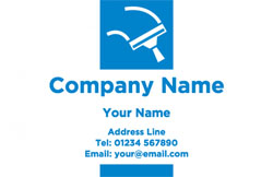 blue squeegee business cards
