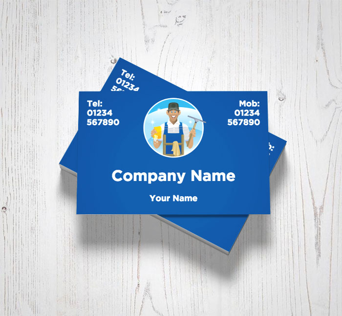 Friendly Window Cleaner Business Cards Customise Online Plus Free
