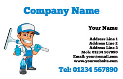 local window cleaner business cards