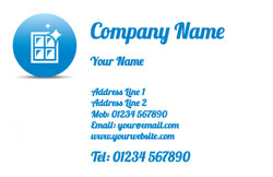blue window icon business cards