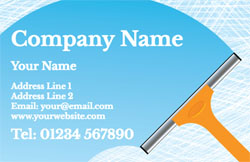 orange squeegee business cards