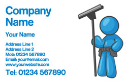 blue window cleaner business cards