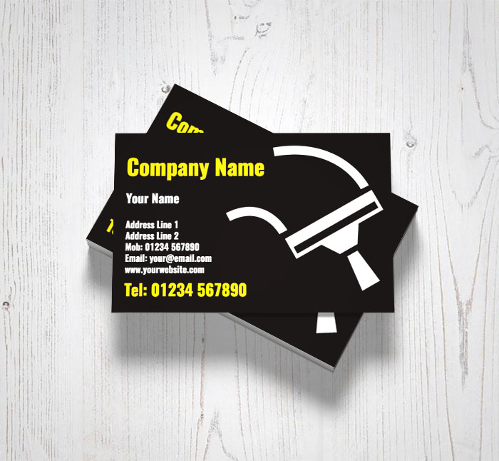 White squeegee business cards customise online plus free delivery white squeegee business cards colourmoves