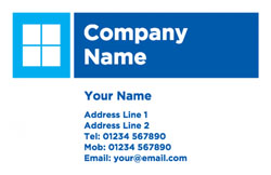 blue window business cards