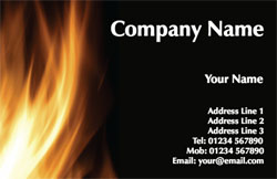 flames business cards