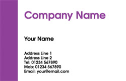 purple stripe business cards