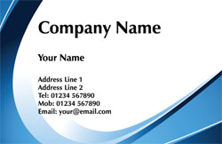 blue swish business cards