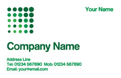 green dots business cards