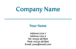 blue line business cards