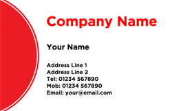 red circle business cards