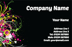 black floral business cards