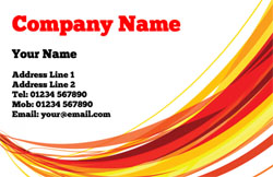 red swish business cards