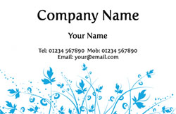 blue flowers business cards