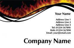 blazing business cards