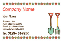 shovel and fork business cards