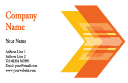 orange arrow business cards