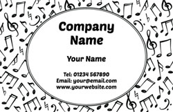 musical notes business cards