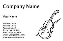 sketched violin business cards