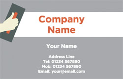 skim plastering business cards