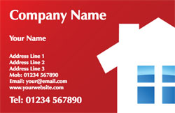 red builders business cards