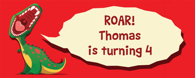 dinosaur roar party banner