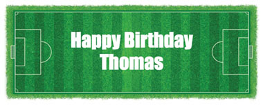 football pitch party banner