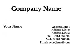 Personal business cards customise online plus free delivery basic business cards colourmoves Images