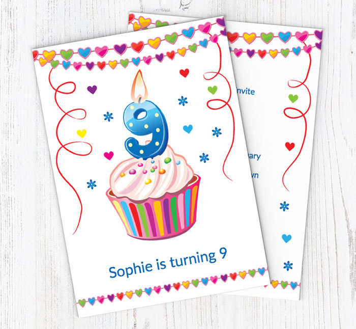 9th Birthday Party Invitations