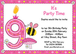 9th birthday party invitations customise online plus free bumble bee 9th birthday invitations filmwisefo