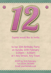 12th birthday candle party invitations customise online plus free glitter style 12th birthday invitations filmwisefo
