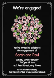 bouquet of flowers invitations