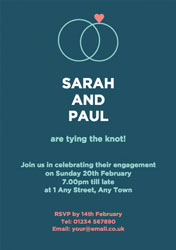 engagement rings invitations