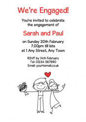 engaged couple invitations