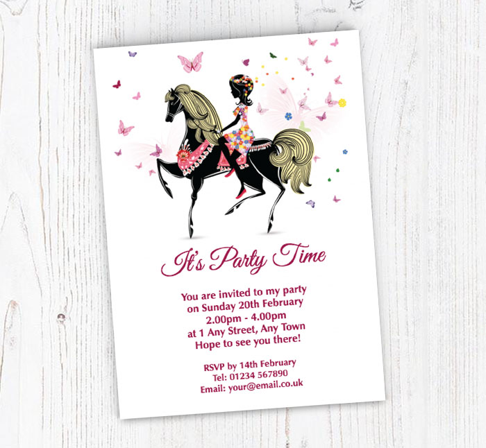 Horse Riding Party Invitations