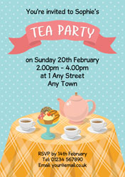 afternoon tea party invitations