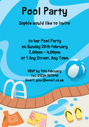 poolside party invitations