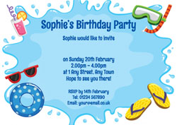 swimming splash invitations